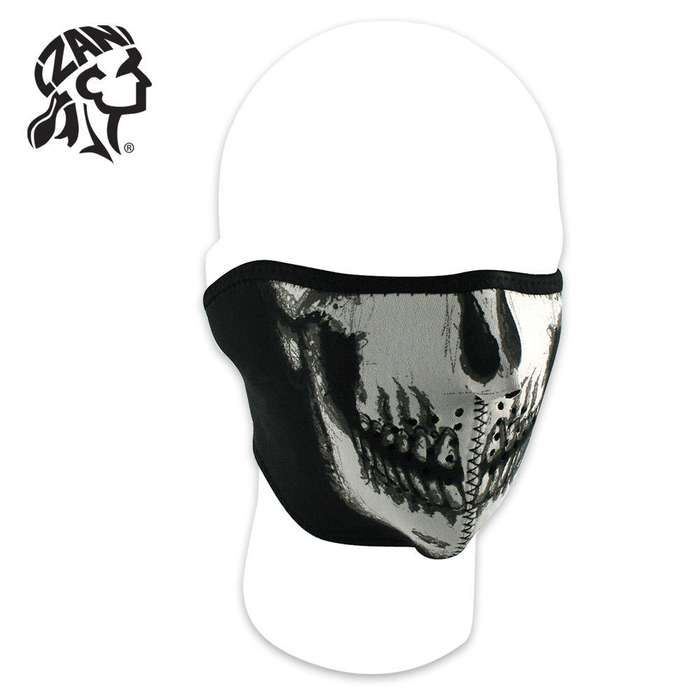 ZANheadgear Neoprene Half Mask Skull Facemask