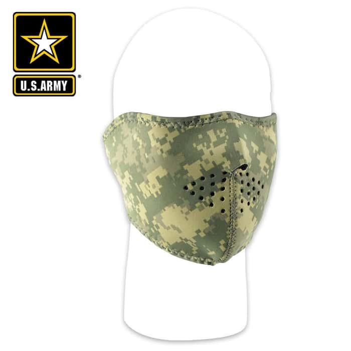 ZANheadgear Digital ACU Camouflage Neoprene Half Facemask