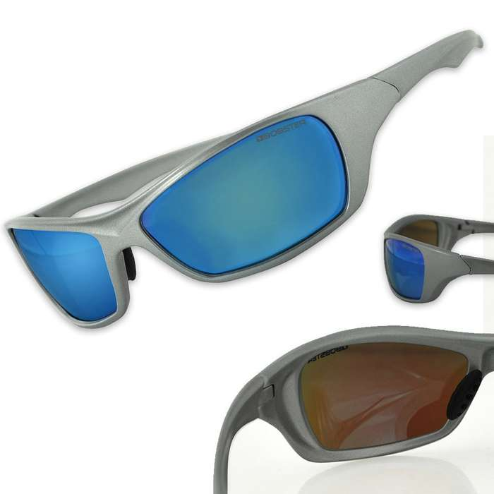 Bolt Sunglasses Blue Mirror with Smoked Lens