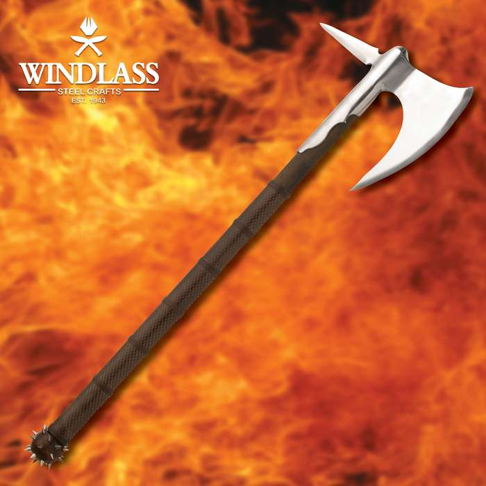 We have yet to see the scaly monster that can hold up to this wicked axe, when wielded by an expert