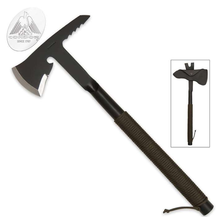 Condor Tactical Rescue Tomahawk with Sheath