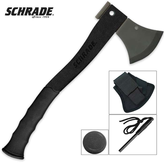 Schrade Black Titanium Survival Axe