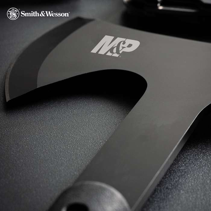 Super Strong. Super Tough. The Smith & Wesson Extraction And Evasion Axe is built to handle anything and anyone