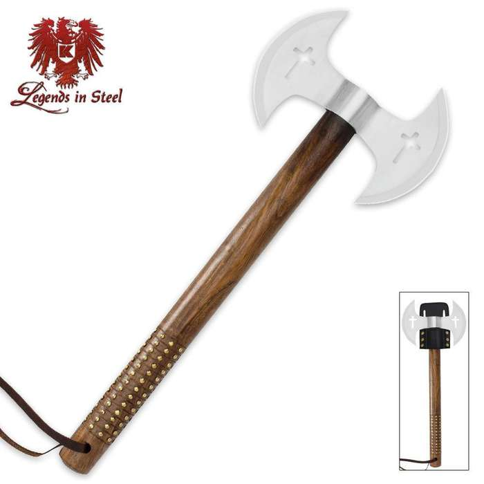 Legends In Steel Double Blade Crusader Tomahawk