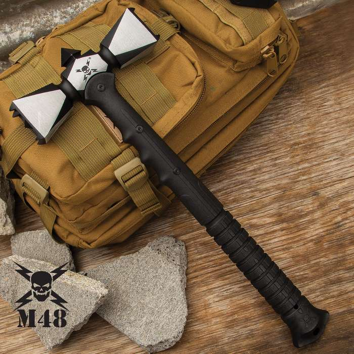 The M48 Double-Headed War Hammer is what you want to be holding in your hands when things get ugly