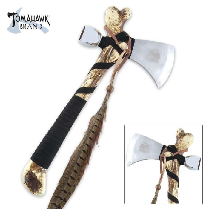 Tomahawk Brand Cherokee Bone Handle Tomahawk