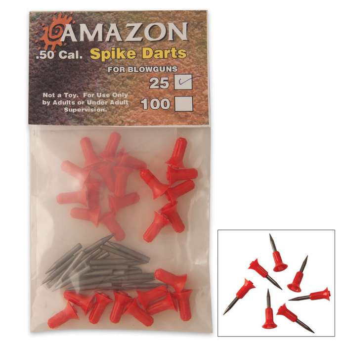 .50 Cal Blowgun Spike Darts 25 Per Pack