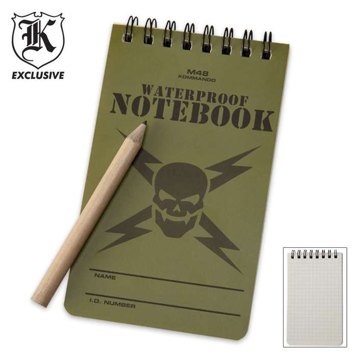 M48 Waterproof Notebook & Pencil
