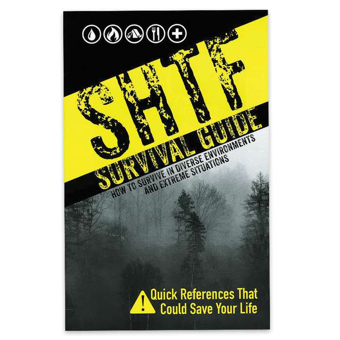 SHTF Survival Guide | Survival Book with Detailed Illustrations | Water, Fire, Shelter & First Aid