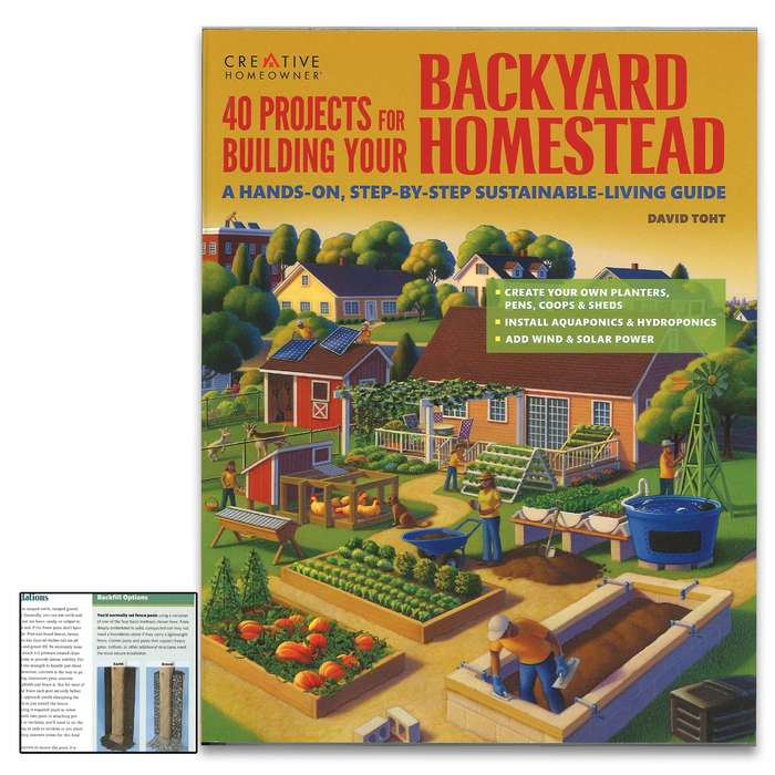 This book will provide details on how to build feeders, fences, and structures for your backyard homestead