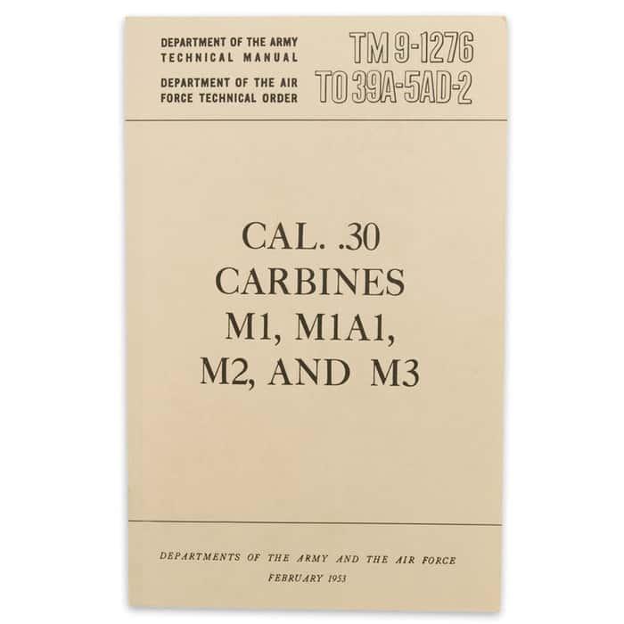 Caliber 30 Carbines Manual