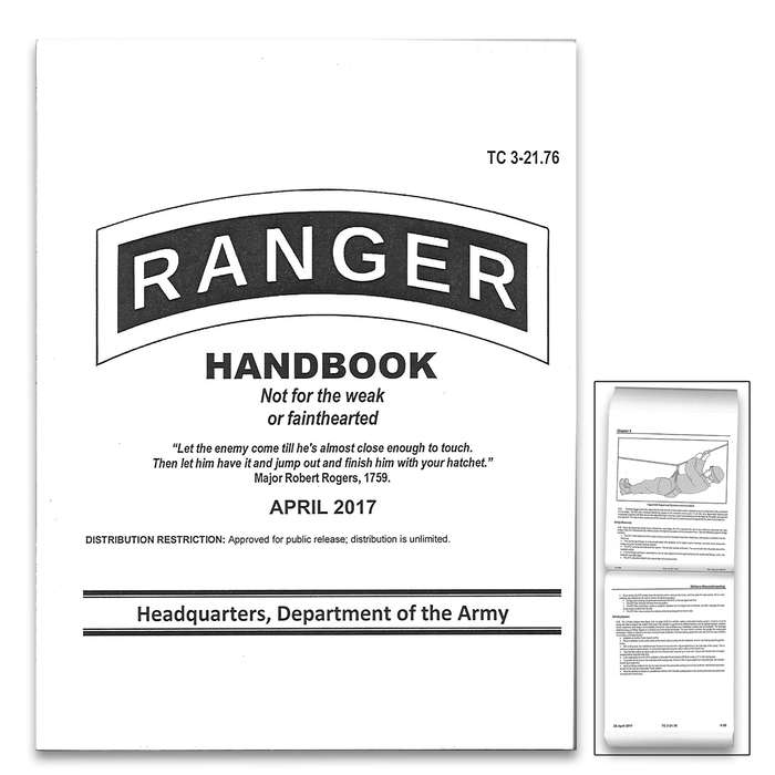 "Ranger Handbook 2017 - Fully Illustrated, Up-To-Date Information, More Than 350 Pages - Dimensions 6""x 4 1/2"""