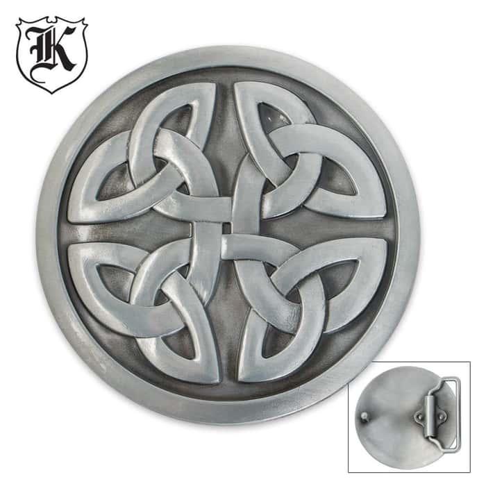 Celtic Knot Heritage Round Zinc Alloy Belt Buckle