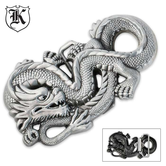 Dragon Cast Zinc Alloy Oversized Belt Buckle