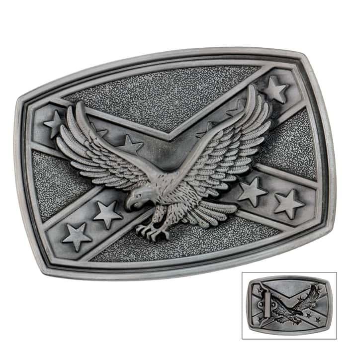 Eagle Flag Belt Buckle