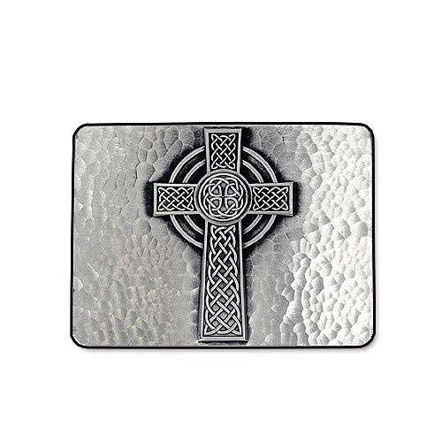 Celtic Cross with Hammered Look Belt Buckle