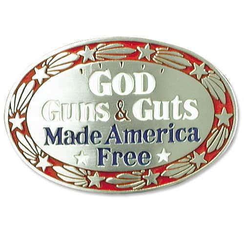 God, Guns & Glory Belt Buckle