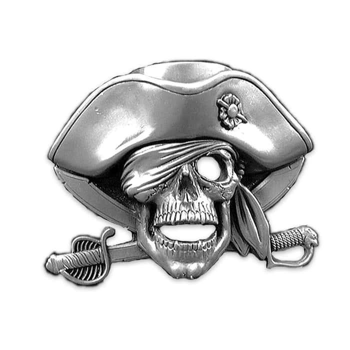 Jolly Roger 3D Belt Buckle