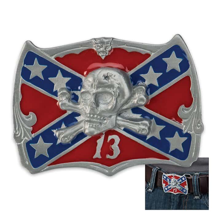 Rebel Flag Confederate Flag Belt Buckle