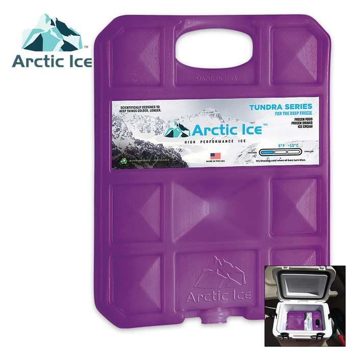 Arctic Ice Tundra Large Reusable Ice Panel - Replaces Dry Ice