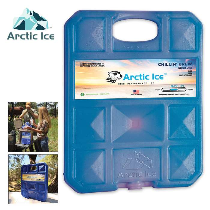 Arctic Ice Chillin Brew Large Reusable Ice Panel - Keeps Brewskies At Perfect Temperature