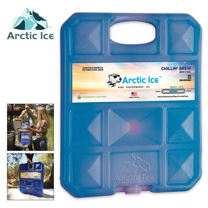 Arctic Ice Chillin Brew X-Large Reusable Ice Panel - Keeps Brewskies At Perfect Temperature