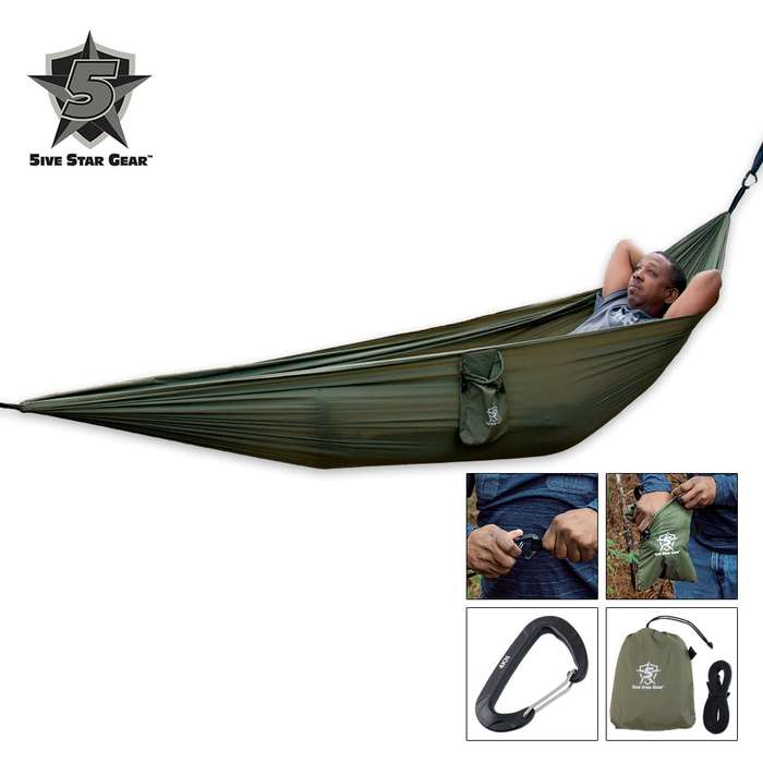 5ive Star Gear Utility Camping Hammock - Has Variety Of Uses
