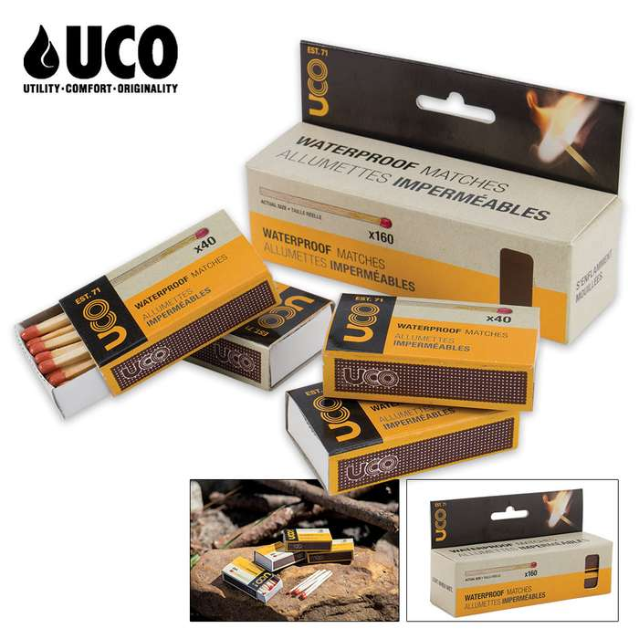 UCO Waterproof Matches Pack Of Four (4 Pack)
