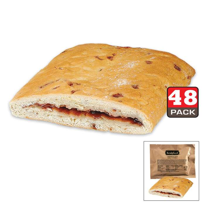 Bridgford MRE Cinnamon Bun Sandwiches - 48-Count