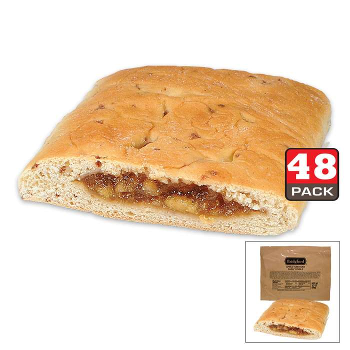 Bridgford MRE Apple Turnover Sandwiches - 48-Count