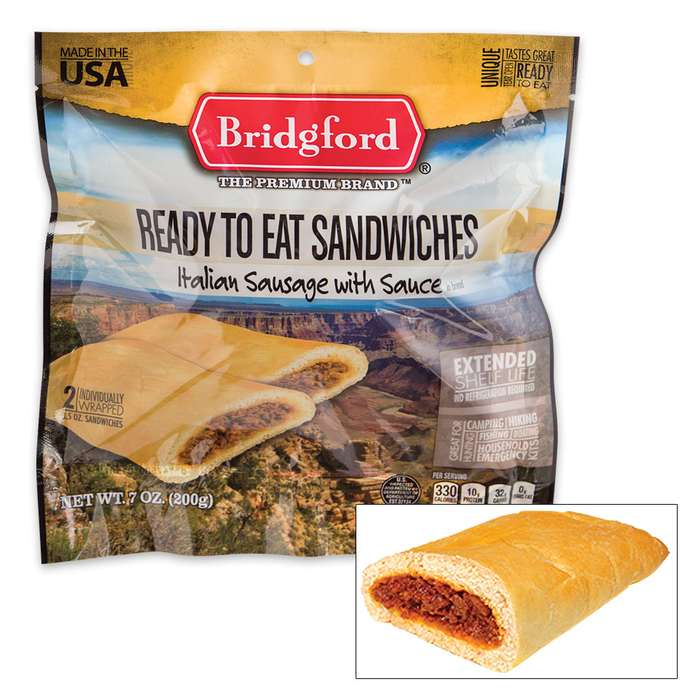 Bridgford MRE Italian Sausage Sandwiches - Two-Pack