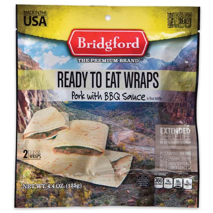 Bridgford MRE BBQ Pork Wrap - Two-Pack