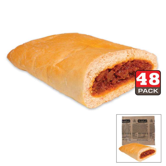 Bridgford MRE Italian Sausage Sandwiches - 48-Count