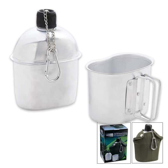 Trailblazer 1-Quart Aluminum Canteen Kit