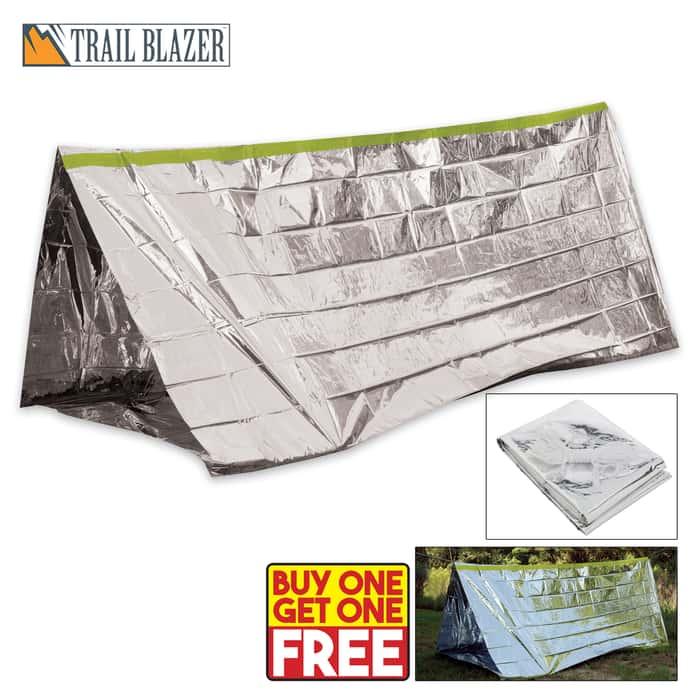 Trailblazer Camping Emergency Survival Tent - BOGO