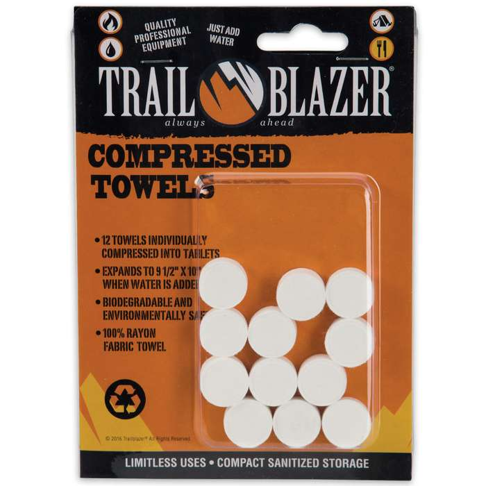 Compressed Towels - 12-Pack