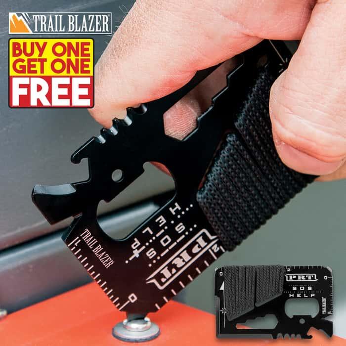Trailblazer Pocket Rescue Tool / Wallet Card - BOGO