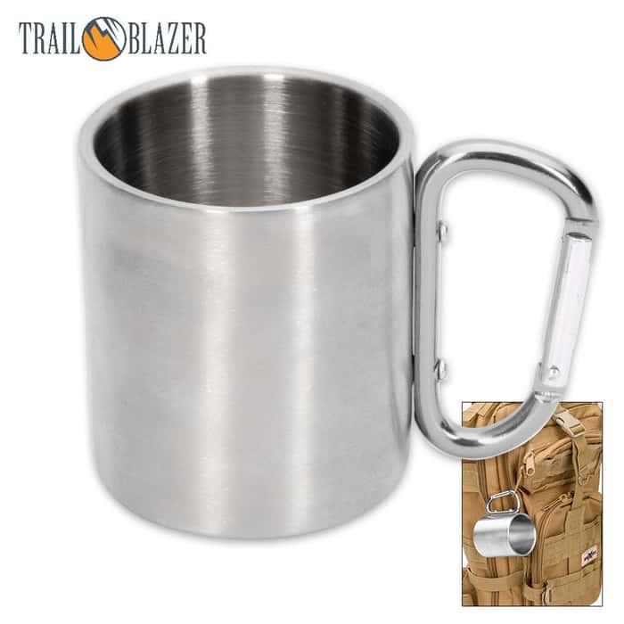 Trailblazer Stainless Steel Mug With Carabiner