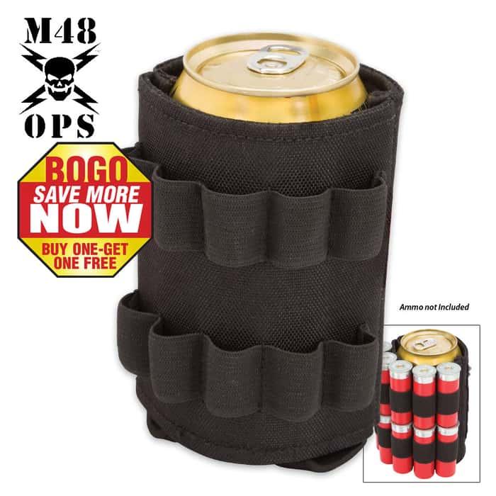 M48 OPS Tactical Can Koozie - Black - BOGO