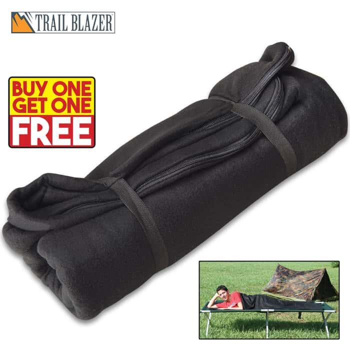Trailblazer Fleece Sleeping Bag / Liner - Black - BOGO