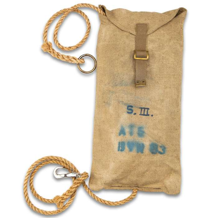 Danish Pioneer Rope With Stuff Sack - 16M, Like New, High-Strength, Variety Of Uses, Metal Clip, Approximately 55'