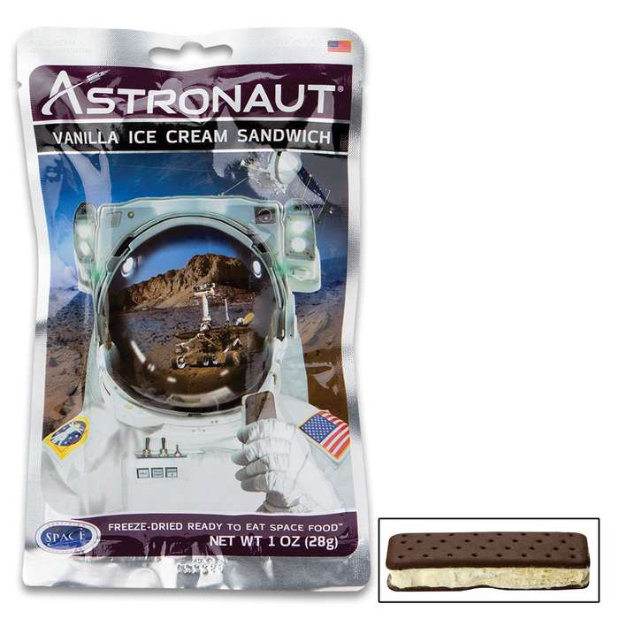 Astro Vanilla Ice Cream Sandwich - Like The Real Thing, No Refrigeration Needed, No Preparation Needed