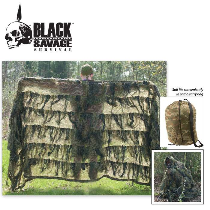Black Savage Ghillie Blanket