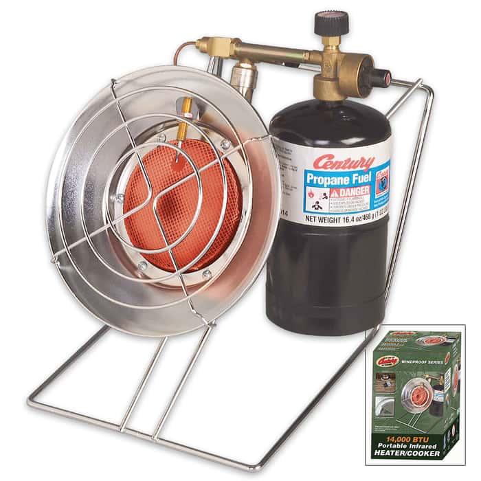 Century Outdoor Propane-Fueled Infrared Heater / Cooker / Dryer Combo - 14,000/10,000 BTU