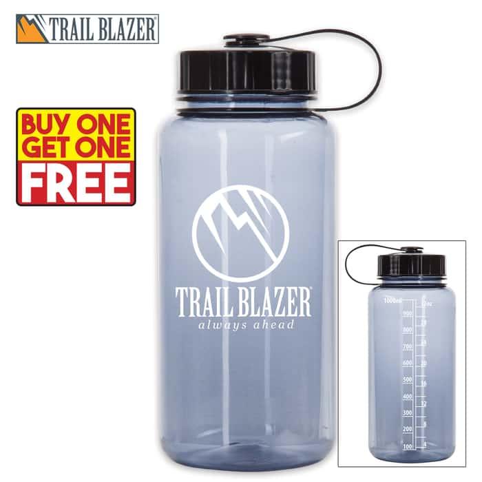 Trailblazer 32-oz Water Bottle - Smoky Gray - BOGO