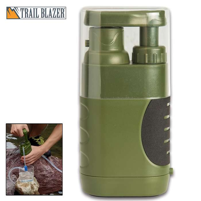 An absolute must-have for your camping, hiking or survival gear because having safe, clean drinking water is a necessity