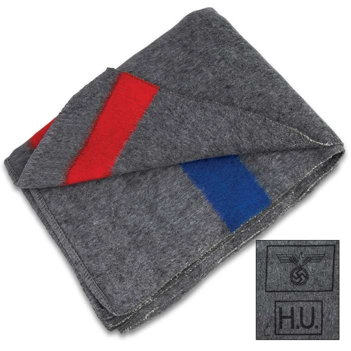 Bundle up and stay warm even in the coldest temperatures when you snuggle up in this oversized German Army Wool Blanket
