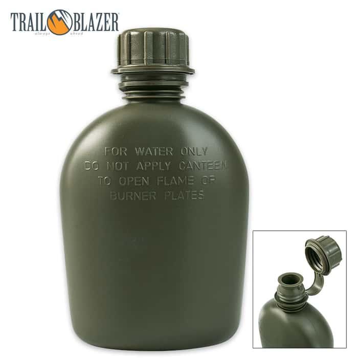 Trailblazer 1-qt Polymer Canteen - OD Green