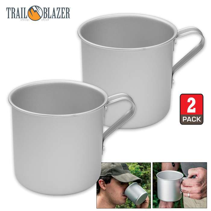 Trailblazer Aluminum Drinking Cups - Set of Two