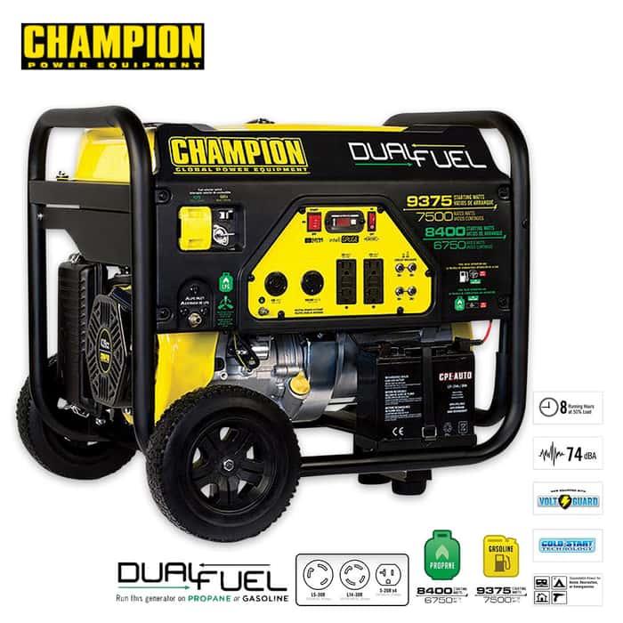 Champion Portable 7500-9375W Open Frame Generator